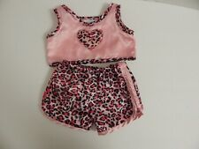 Build A Bear ~ Pink Animal/Leopard Print Pajama Set