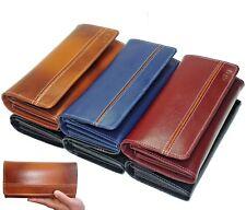 New 2020 Ladies Leather Wallet Cash Multi Credit Card Organizer Red Black Navy