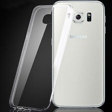ShockProof Silicone Bumper Clear Slim Back Case Cover Samsung Galaxy S6 SM-G9200