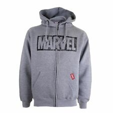 Marvel Logo - Men's Zip Hoody Hoodie - Distressed Style - Official Licensed