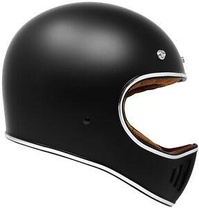 GDM Rebel Retro Vintage Motorcycle Helmet DOT Matte Black SIZE M