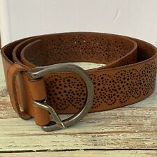 No Boundaries Women/'s  Decorative Woven Brown Belt with Fringe
