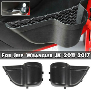 2Pcs Car Door Storage Pockets Organizer Box For Jeep Wrangler JK JKU 2011-2017