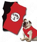 Dr Seuss Thing 1 Dog t-shirt Thing 2 dog's shirt pet costume Halloween