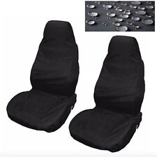 Car Seat Covers Waterproof Nylon Front Pair Protectors Plain Black to fit Jaguar