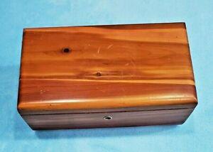 Miniature Lane Cedar Chest Wooden Jewelry Keepsake Box with Key Short Rounded SR