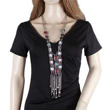 Boho Style Fashion Long Chains Tassel Necklaces Vintage Statement Necklace
