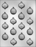 Small Christmas Holiday Ornaments Chocolate Candy Mold CK #4129 New