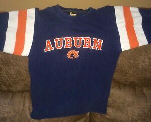 VINTAGE Little King Auburn Tigers Jersey Style Long Sleeve Shirt Sz Youth Medium