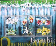 GAMBIA 2001 Klb 4256-65 Orchideen Orchids Blumen Flowers Flora Pflanzen MNH