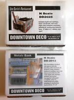 Downtown Deco N Scale 2 Building Kit Set Save $20 Great Detail & Graphics!