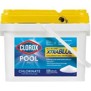 Clorox Pool & Spa Xtra Blue Chlorinating Sanitizer Granules 22.5 lb