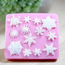 Snowflake Silicone Fondant Cake Mold Cupcake Decorating Lace Sugarcraft DIY Tool