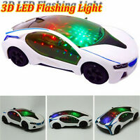 3D Supercar Style- Electric Toy With Wheel Lights&Music - Kids Boys Girls Gift u