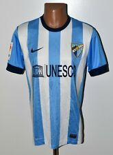 MALAGA SPAIN 2013/2014 HOME FOOTBALL SHIRT JERSEY NIKE SIZE M ADULT