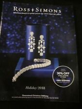 ROSS SIMONS JEWELRY CATALOG HOLIDAY 2018 FABULOUS JEWELRY & GREAT PRICES NEW