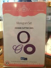 NEW Quickutz / Lifestyle Crafts 'Monogram O' (3 Die Set) Cookie Cutter Dies Die