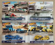 Hot Wheels 2020 estuche de transporte de equipo conjunto VW Bug, WW T1, Mercedes, Mustang, GT40
