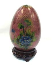 Handmade Chinese Translucent Cloisonne Collectible Egg