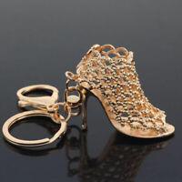 Women Rhinestone Keychain Crystal High Heel Shoe Keyring Bag Pendant