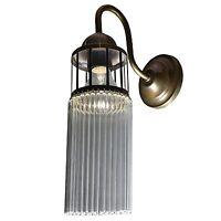 Jugendstil Wandlampe Messing Antik Wandleuchte Lampe Gold Flurlampe Vintage