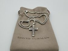 David Yurman Men's Pendant Necklace Small Sky Cross and 20 in 2.7mm Box Chain