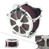 Chrome Air Cleaner Intake Air Filter for Harley Touring Trike 2008-2016 Motor