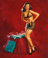 'I MUST BE GOING TO WAIST' 1946 ELVGREN VINTAGE PIN UP GIRL POSTER PRINT 24x20