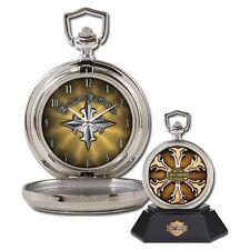 Franklin Mint Harley Davidson Edge Collector Pocket Watch B11F148 NEW