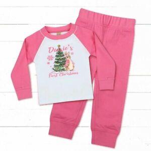 🌲🎅🏼 personalised Girls flopsy rabbit 1st 2nd 3rd 4th Christmas Pyjamas  pjs