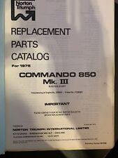 Norton Commando 750 Part List 1973