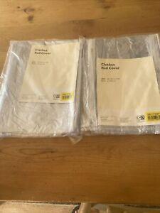 Argos Home Clothes Rail Cover - Clear X 2