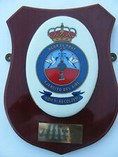Spanish Airforce Ward Room Plaque Shield Wood and Ceramic