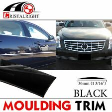 "1-3/16"" Molding Trim Black Roof Bumper Trunk Strip Decorate Adhesive DIY 18ft"