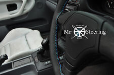 FOR BMW 3 SERIES E46 BLACK REAL LEATHER STEERING WHEEL COVER M3 /// STITCH 99-05