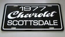1977 Chevrolet Scottsdale pickup truck license plate tag 77 Chevy C10 half ton
