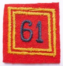 Insigne tissu de Calot ou Képi 1914/1918 WWI 61° RA VERDUN 1917 ORIGINAL patch 2