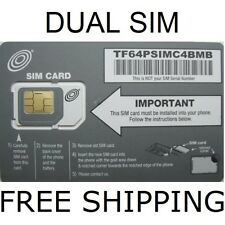 BRAND NEW DUAL SIM CARD UNLIMITED DATA TALK TEXT NET10 AT&T WIRELESS SERVICE