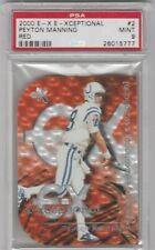 New listing 2000 EX E-Xceptional Peyton Manning Red PSA 9 Mint SP + Randy Moss Mint