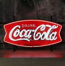 "New Drink Coca Cola Neon Light Sign 24""x20"" Lamp Poster Real Glass Beer Bar"