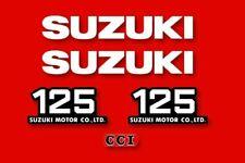 SUZUKI TS 125 - Kit déco Sticker decals - 1977 - red