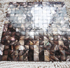 Coffee groutless shell mosaic kitchen backsplash bathroom background wall tile