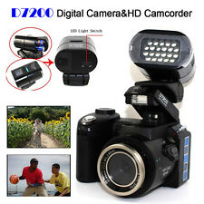 POLO D7200 Digital Camera 1080P HD 33MP Video Camcorder + LED Spotlight + 3 Lens