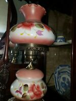 "Lamp Gone With The Wind Victorian ""22"" Parlor Antique Electrified Beautiful."