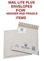 D1 White 180x260mm Mail Lite Plus Bubble Envelopes for Heavier Fragile Items