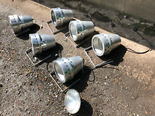 1970s Vintage Theatre Spot Light in Polished Aluminium with Brackets PAR 64