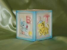 Vintage, Relpo Baby Block Planter With Jungle Animals & Letters, 6619 A/B