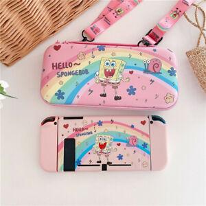 Cute Cartoon SpongeBob Travel Bag Carrying Case Cover for Nintendo Switch Pouch