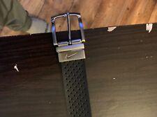 Nike Golf Black/White perforated leather golf belt size 40.