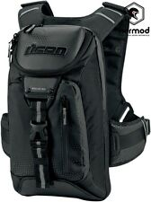 Icon Squad 3 Motorcycle Backpack Rucksack Bag - Black